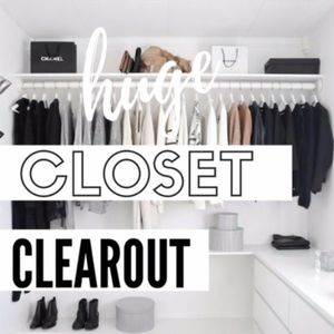 CLOSET CLEAR OUT! EVERYTHING MUST GO!!!!